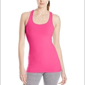 Pink racerback workout top